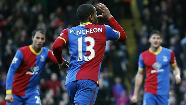Jason Puncheon celebrates after scoring for Crystal Palace