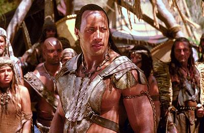 The Rock as Mathyus in Universal's The Scorpion King