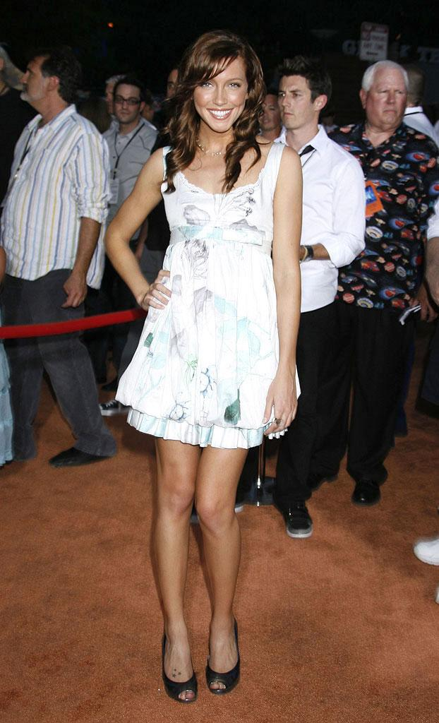 Katie Cassidy arrives at the Disney-Pixar's WALL-E Premiere on June 21, 2008 at Greek Theatre in Los Angeles, California.