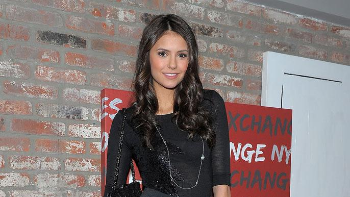 "Nina Dobrev attends the ""Love Bites"" dinner and after party to celebrate the February Vampire Diaries cover issue co-hosted by Armani Exchange & NYLON magazine at 675 Bar on January 30, 2010 in New York City."