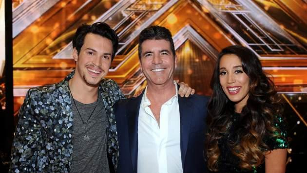 Simon Cowell and winners of 'The X Factor' Alex & Sierra -- FOX