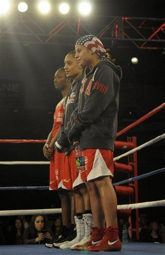 From Left, Claressa Shields, Queen Underwood And Marlen Esparza Won Thier Weightclasses (AP Photo/Jed Conklin)