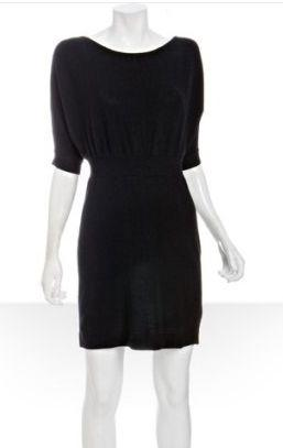 Cashmere button back dress