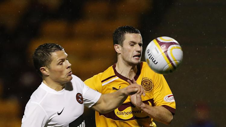 Jamie Murphy's, right, Motherwell contract expires at the end of the season
