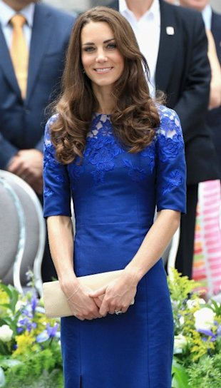 Kate Middleton royal blue