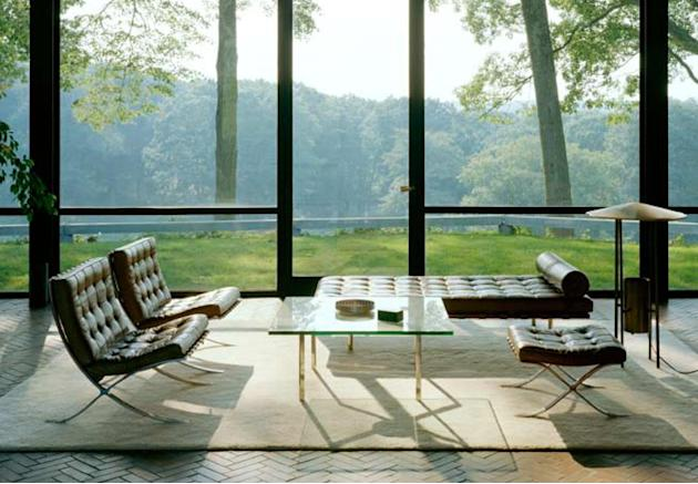 Phillip Johnson's Glass House, interior