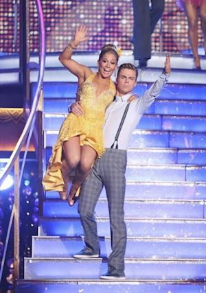 Shawn Johnson and Derek Hough take the stage for 'Dancing with the Stars: All Stars,' Sept. 24, 2012 -- ABC