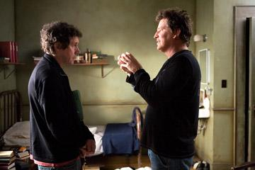 Stephen Rea and director Stephen Hopkins on the set of Warner Bros. Pictures' The Reaping
