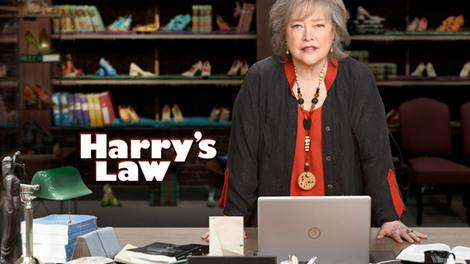 Promotional image/logo for the NBC television series Harry's Law