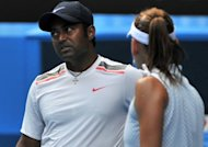 "Leander Paes of India (left) during a mixed doubles match at the Australian Open in January. India's top player Sania Mirza has lashed out at the country's tennis chiefs, saying she was humiliated at being used as ""bait"" in an Olympic selection row to pacify a disgruntled Paes"