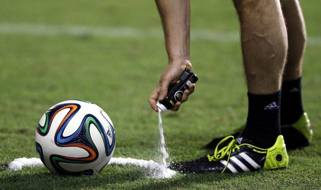 Mystery solved: World Cup referee's weird vanishing spray