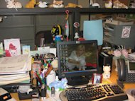 Don't be afraid to make your desk a mess. It might make you more creative.
