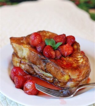 Strawberry Mint French Toast