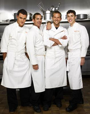 Owain Yeoman, Nicholas Brendon, Bradley Cooper and John Francis Daley FOX's Kitchen Confidential
