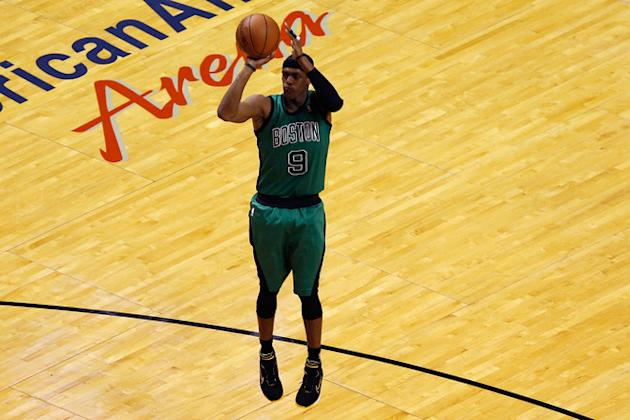 Rajon Rondo #9 Of The Boston Celtics Attempts Getty Images