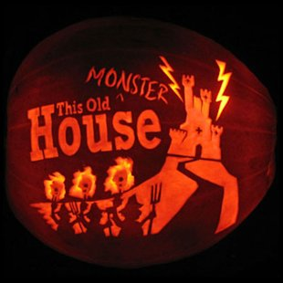 This Old Monster House Pumpkin