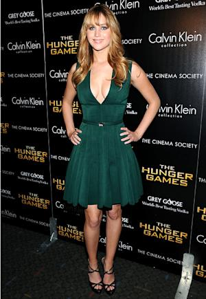 Wow! Jennifer Lawrence Flaunts Major Cleavage in Plunging Dress