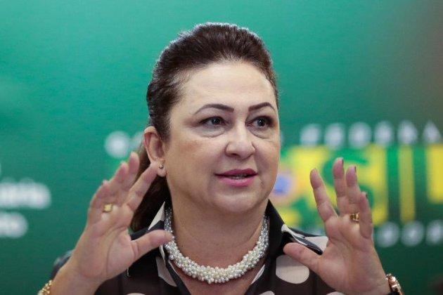 A ministra da Agricultura, Kátia Abreu, em Brasília. (AFP)