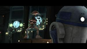 "Pit droids and R2-D2 in ""Nomad Droids"" from ""Star Wars: The Clone Wars."""