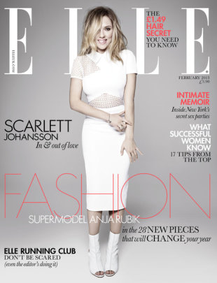 Scarlett Johansson covers February's issue of ELLE UK
