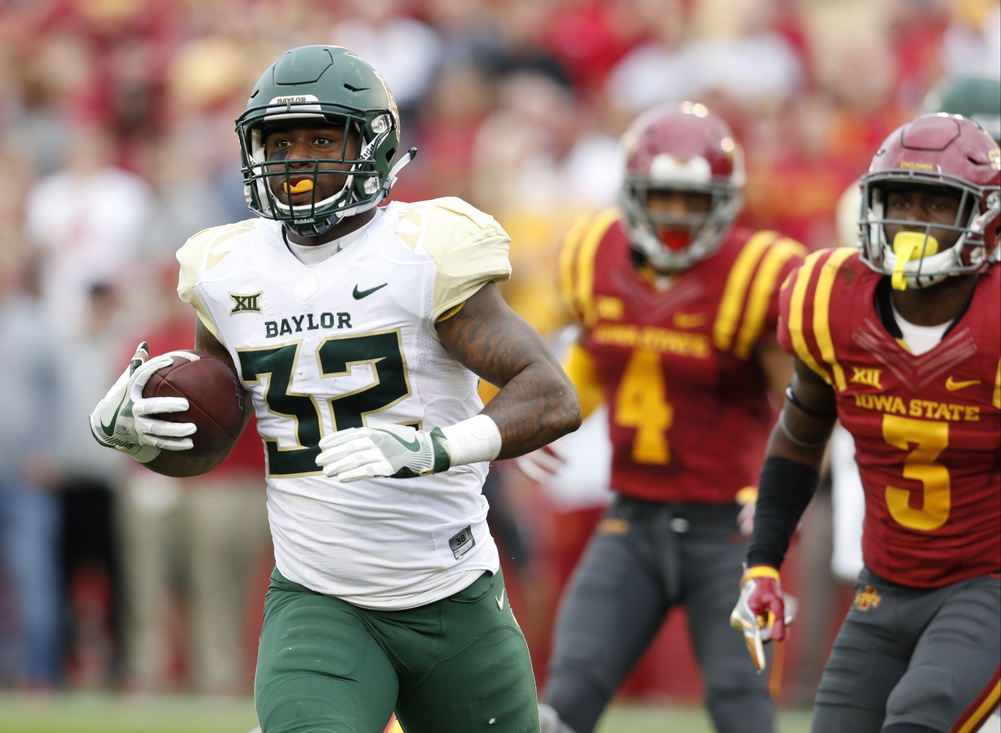 Shock Linwood is Baylor's all-time leading rusher. (Getty)