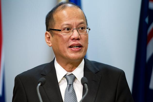 Philippine President Benigno Aquino speaks on October 23, 2012 in Wellington