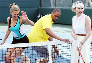 Eliza Coupe, Damon Wayans Jr., Elisha Cuthbert | Photo Credits: Richard Cartwright/ABC