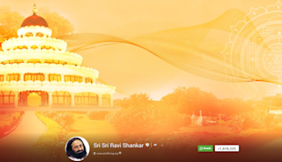 Top 20 Indian Business Pages On Google Plus 2013 image Sri Sri Ravi Shankar G  cover 1024x587