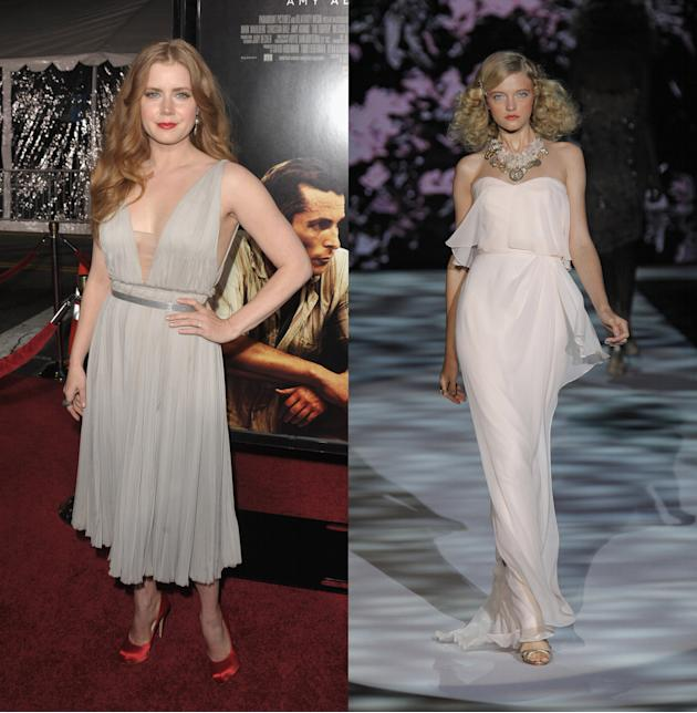 Amy Adams and Badgley Mischka