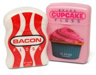 cupcake and bacon floss