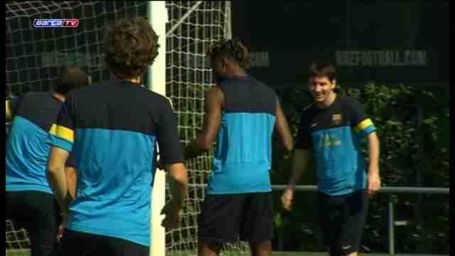 Barcelona recover with light training session