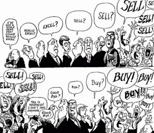 Winning Big or Playing Small image funny stock market traders cartoon