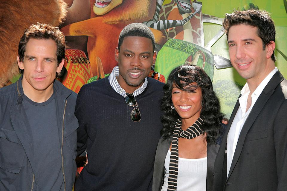 Madagascar 2 LA Premiere 2008 Ben Stiller Chris Rock Jada Pinkett Smith David Schwimmer