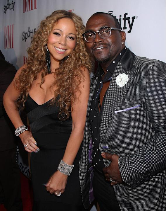 IMAGE DISTRIBUTED FOR BMI-Mariah Carey and Randy Jackson at the 2012 BMI Urban Awards on Friday, Sept. 7, 2012, in Beverly Hills, Calif. (Photo by Arnold Turner/Invision for BMI/AP Images)