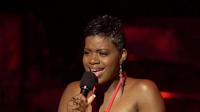 "Fantasia Barrino performs on season 3 of ""American Idol."""