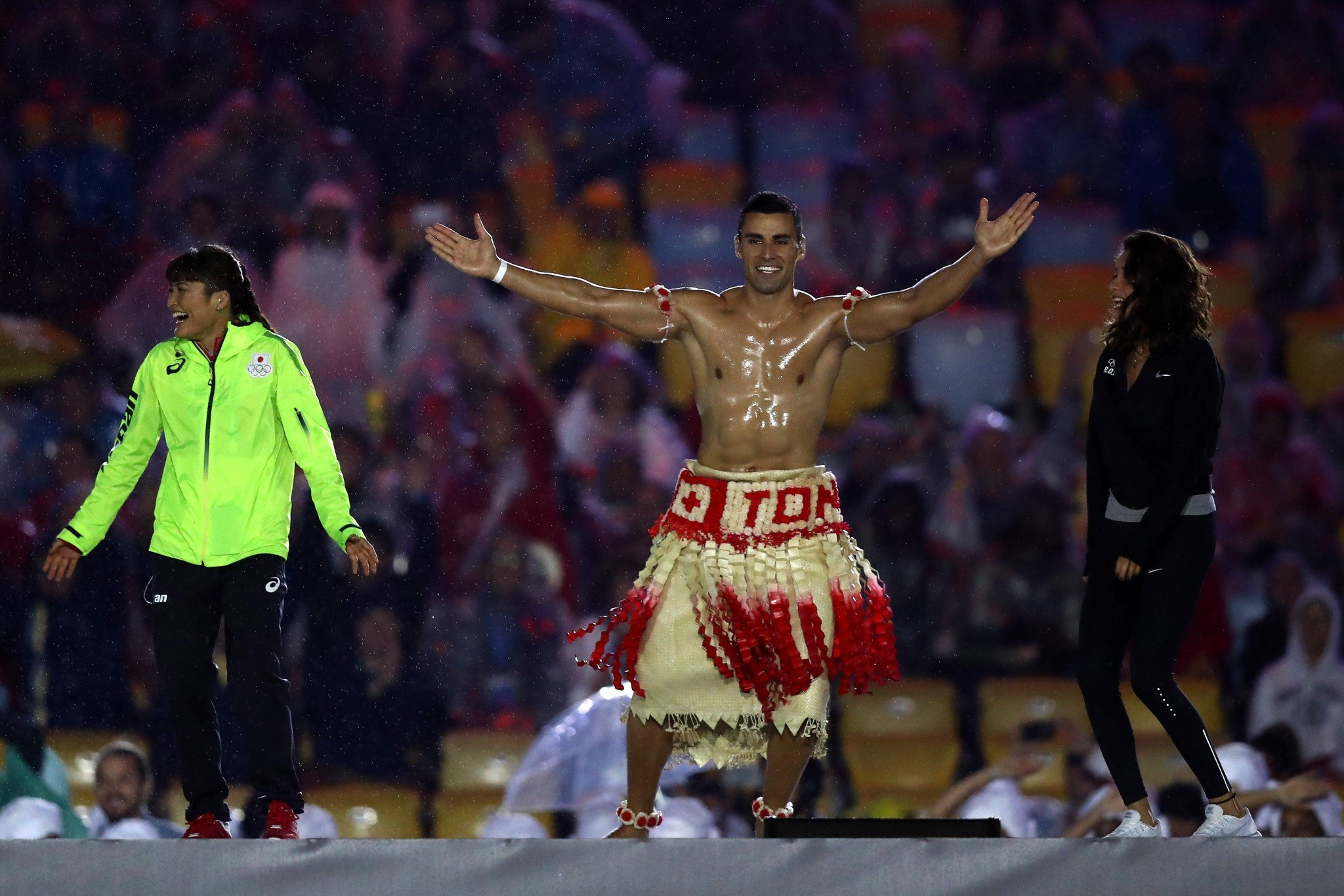 Tonga's Pita Taufatofua, who became a sensation during the Rio Summer Games, is eyeing the 2018 Winter Games. (Getty Images)