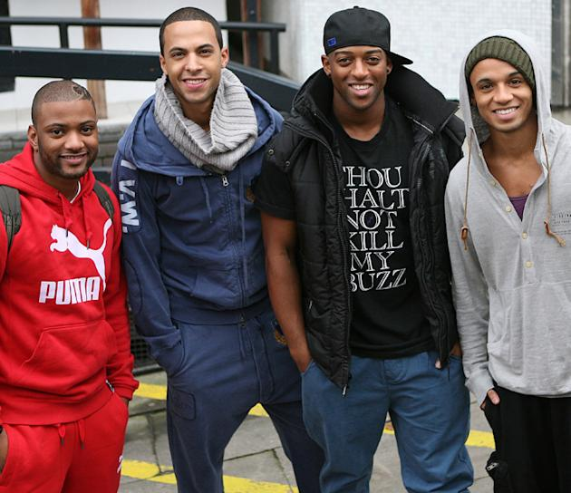 JLS do the promotional rounds shortly after The X Factor. Copyright [WENN]