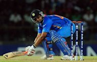 India's Suresh Raina plays a shot during the World Twenty20 match against Afghanistan at the R. Premadasa Stadium in Colombo. India defeated Afghanistan by 23 runs in their group A match at the World Twenty20 in Colombo