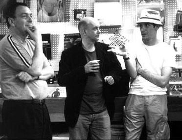 Director Stephen Frears , novelist Nick Hornby and D.V. DeVincentis , who adapted Hornby's novel into the screenplay for Touchstone's High Fidelity