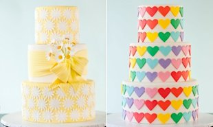 Technicolor Wedding Cakes