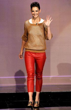 Would You Rock Red Leather Pants Like Katie Holmes?