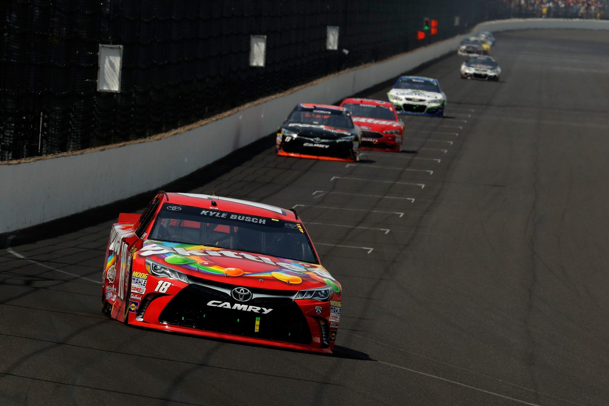 Kyle Busch dominated on Sunday at Indianapolis (Getty).
