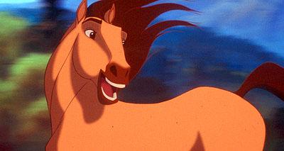 Spirit is a wild and rambunctious stallion journeying through the untamed American frontier in Dreamworks' Spirit: Stallion of the Cimarron