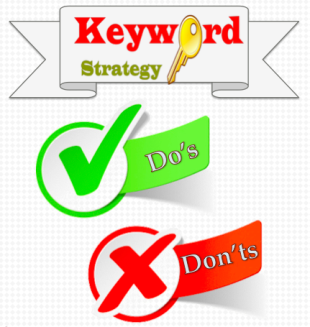 15 Ways Sharp Content Creators Use (and Don't Use) Keyword Strategy image keyword stratedy dos and donts