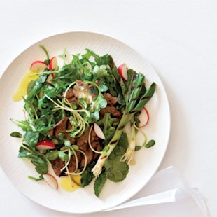 Grilled Beef and Spring Onion Salad