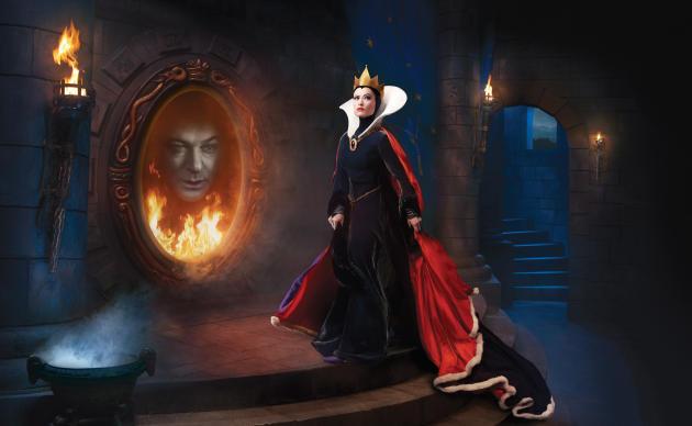 Disney Dreams: Olivia Wilde as the Evil Queen and Alec Baldwin as the Magic Mirror