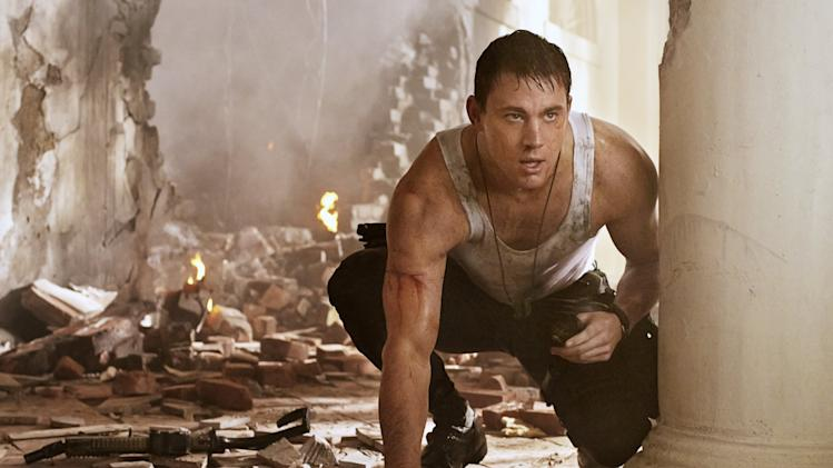 "Jamie Foxx and Channing Tatum in ""White House Down"""