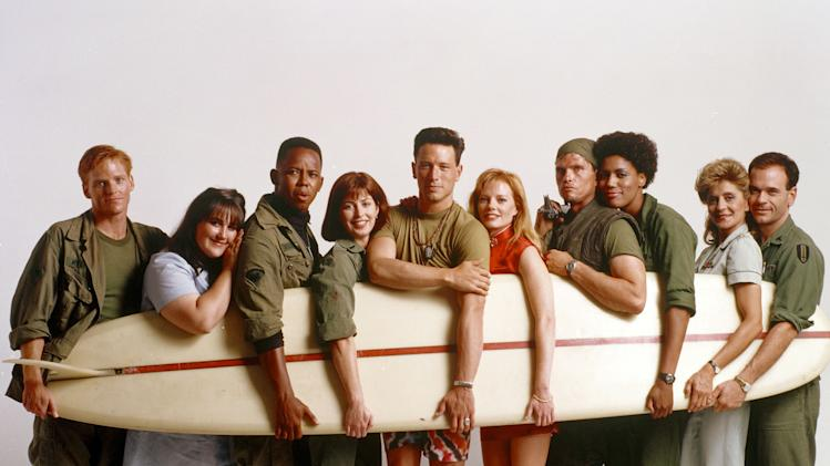 """China Beach"" NED VAUGHN, RICKI LAKE, MICHAEL BOATMAN, DANA DELANY, BRIAN WIMMER, MARG HELGENBERGER, JEFF KOBER, NANCY GILES, CONCETTA TOMEI, ROBERT PICARDO"