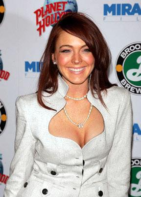 Lindsay Lohan at the New York premiere of Miramax Films' Hostage