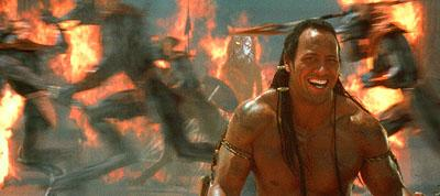 The Rock as The Scorpion King in Universal's The Mummy Returns